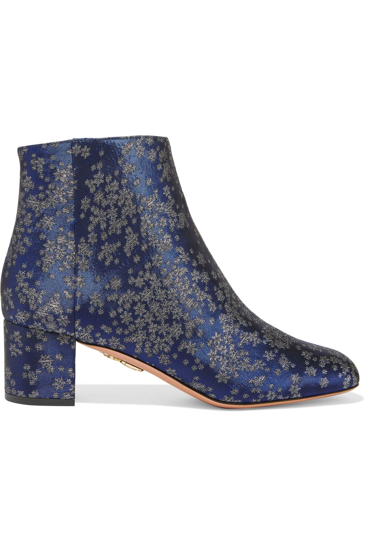 20452494700e6a Lyst - Aquazzura Brooklyn Stardust-jacquard Ankle Boots in Blue