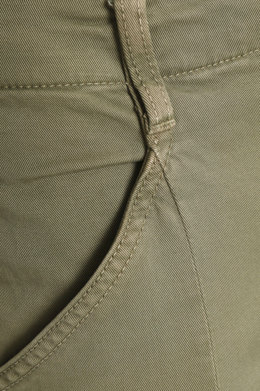 J Brand Denim Cropped Mid-rise Skinny Jeans Sage Green