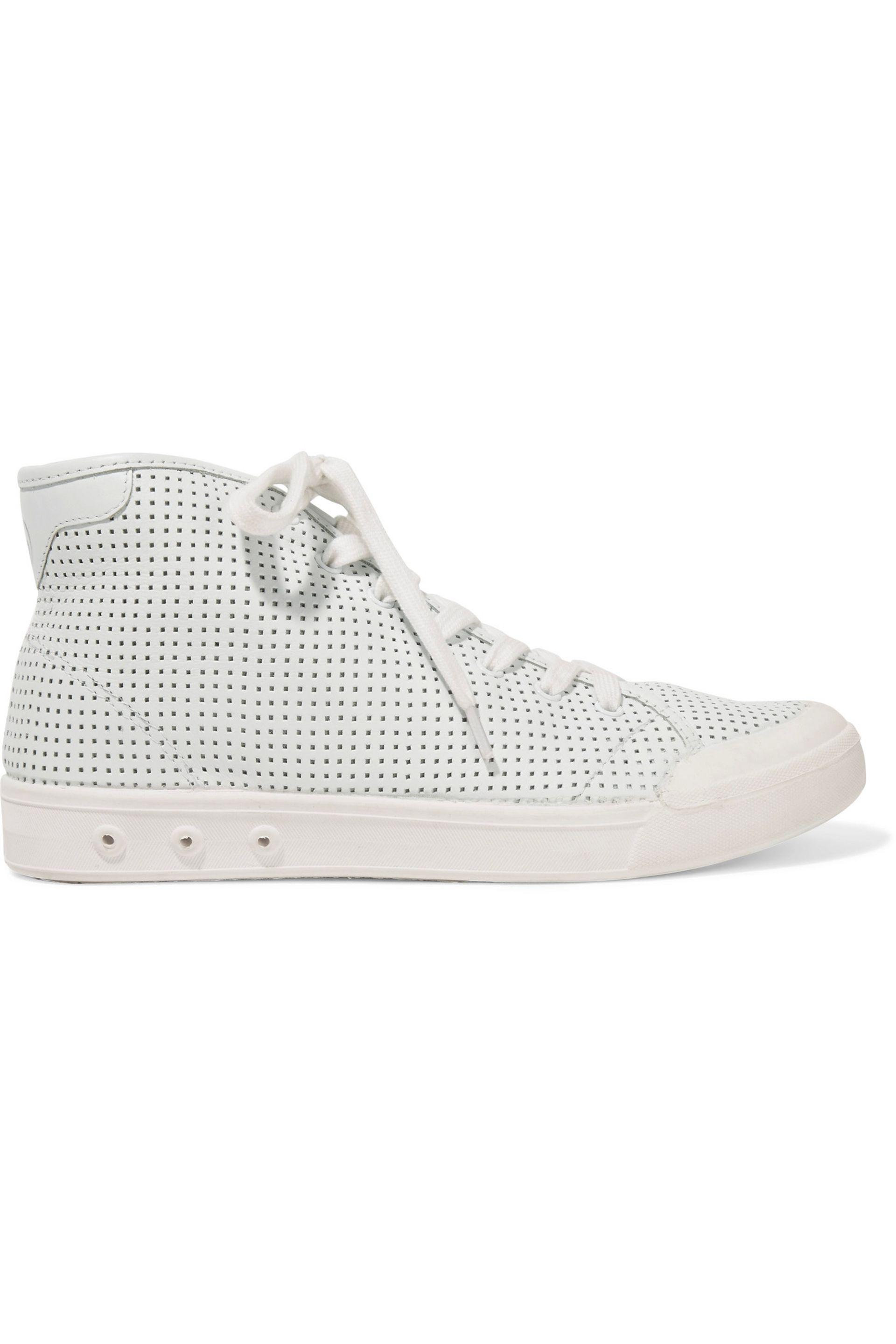 Rag & Bone | White Standard Issue Perforated Leather High-top Sneakers |  Lyst. View Fullscreen