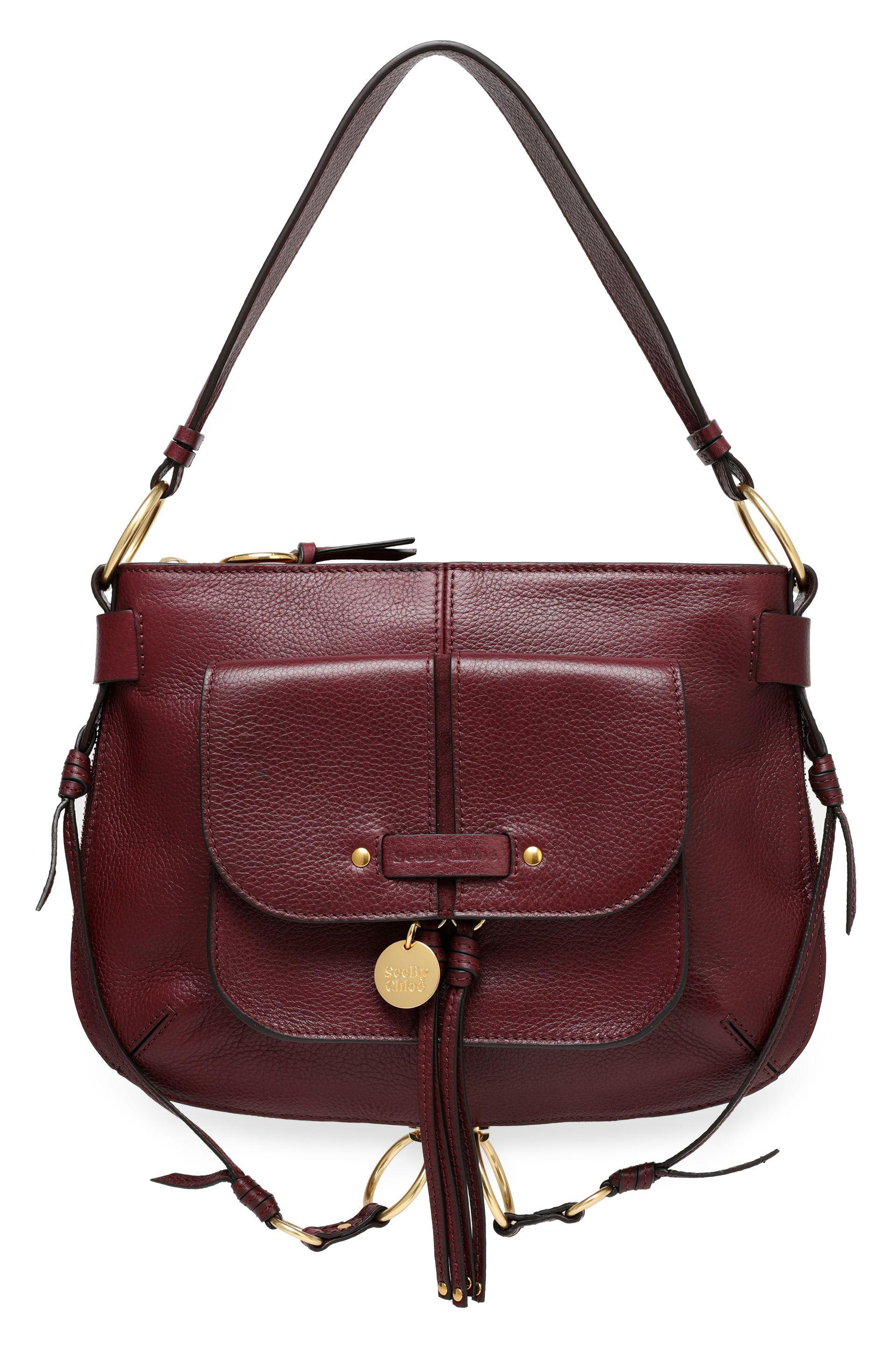 03d2e6aaa7 See By Chloé Textured-leather Shoulder Bag in Purple - Lyst