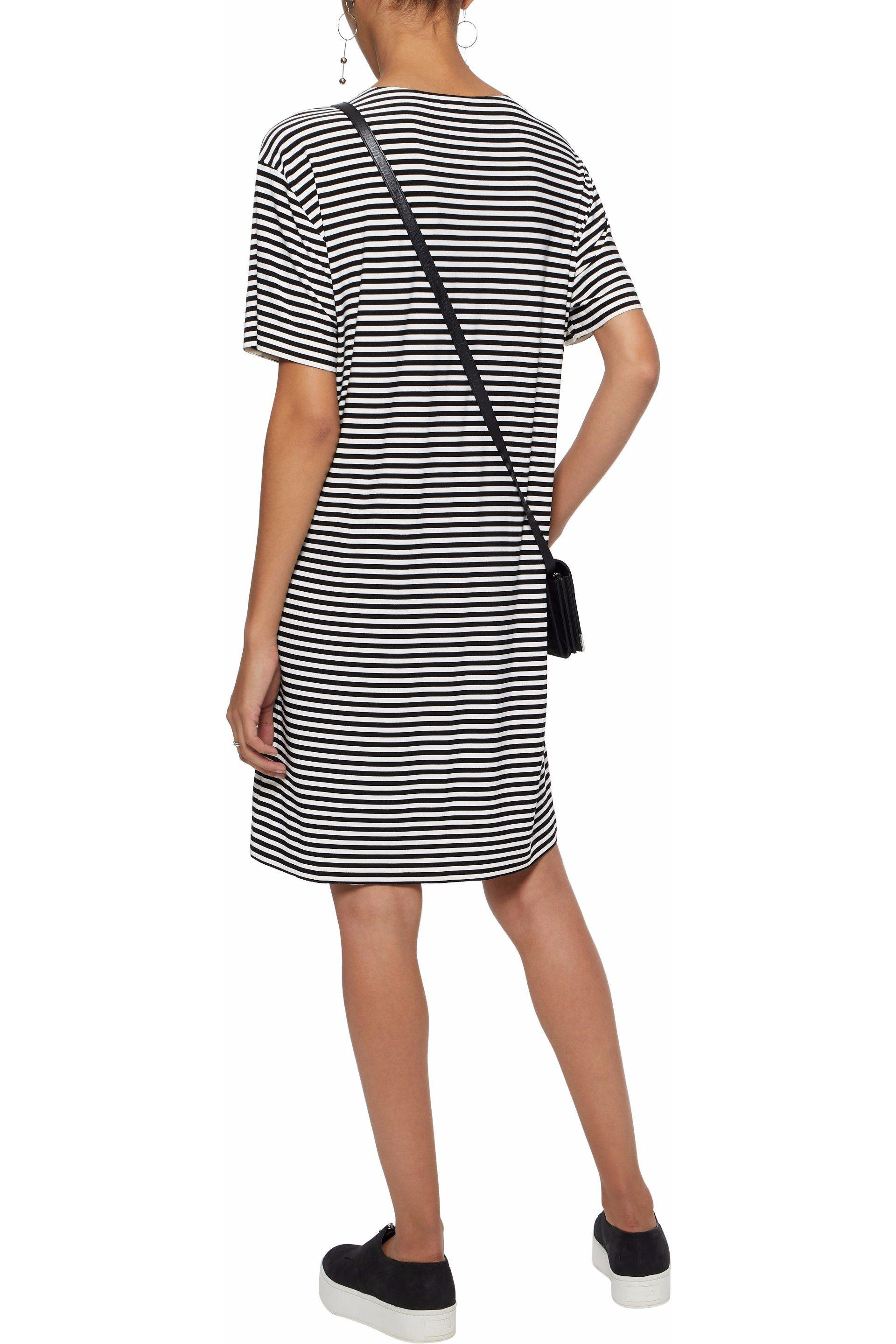 c2a083b2e02 Lyst - Norma Kamali Striped Stretch-jersey Dress in White