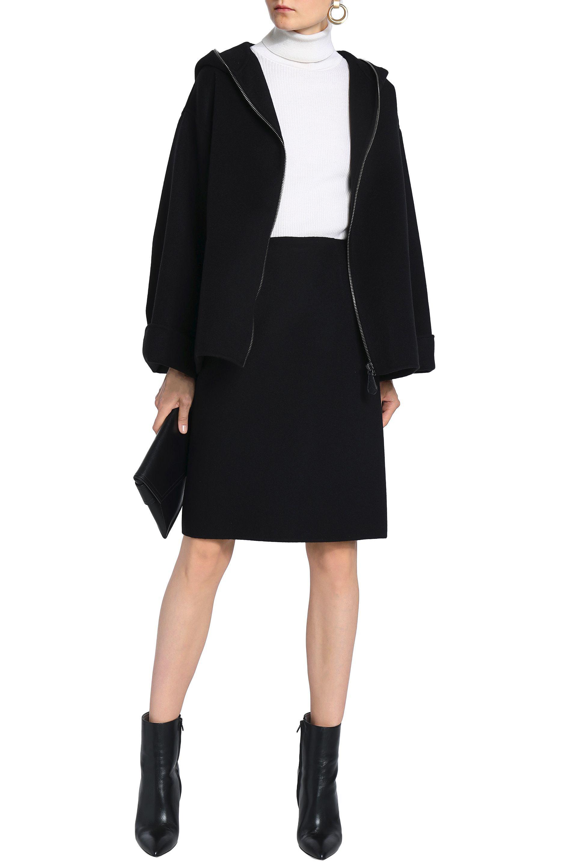 e62148005e Bottega Veneta - Black Brushed-cashmere Skirt - Lyst. View fullscreen