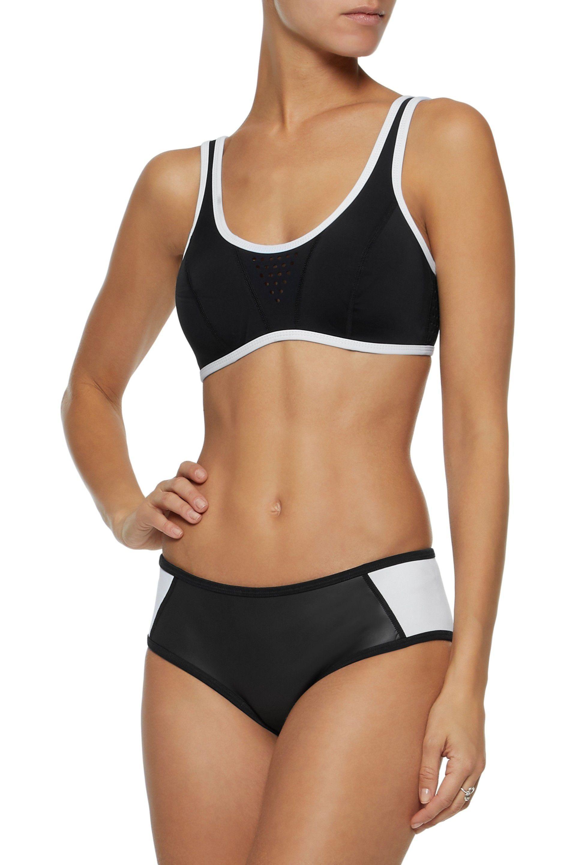 deb80f60be6f5 Duskii Woman Two-tone Neoprene Mid-rise Bikini Briefs Black in Black ...