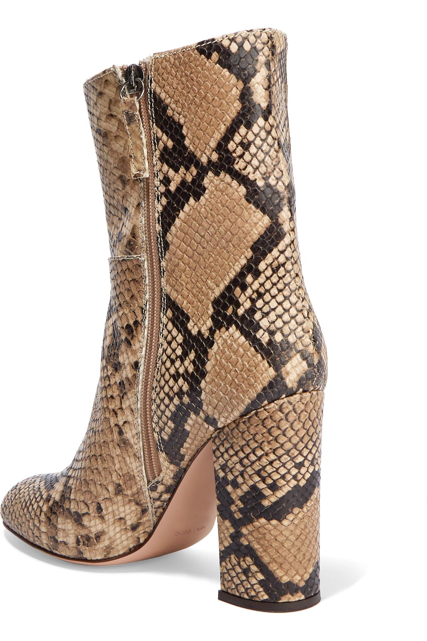 Iris Amp Ink Snake Effect Leather Boots Lyst