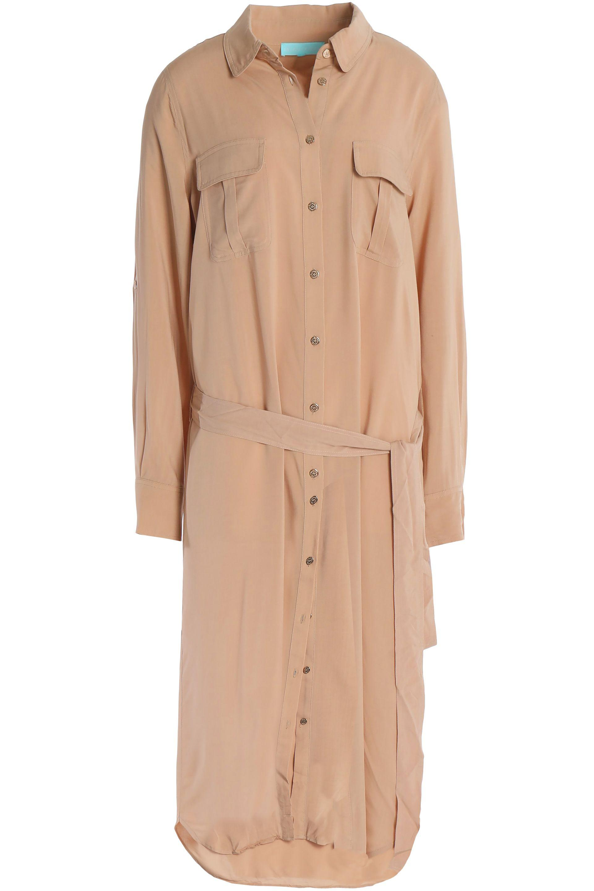 Cheap Browse Melissa Odabash Woman Maryanne Belted Brushed-jersey Midi Shirt Dress Beige Size L Melissa Odabash Brand New Unisex Cheap Price Cheap Sale Low Shipping Classic Online Cheap Online RYu10G