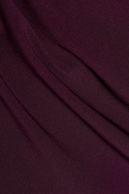 e808c07511d0 Cinq À Sept Luna Strapless Fluted Crepe Midi Dress Dark Purple in ...
