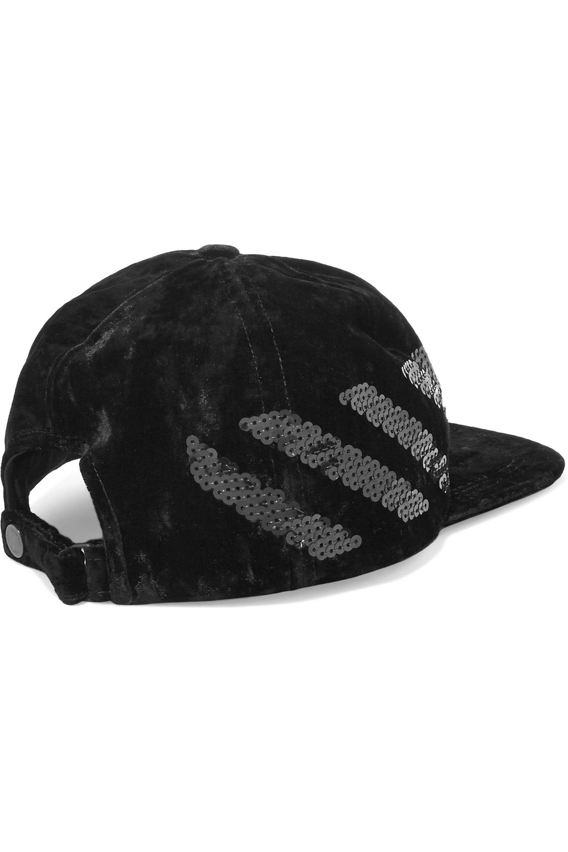 d0abc27be Off-White c/o Virgil Abloh Black Sequin-embellished Velvet Cap