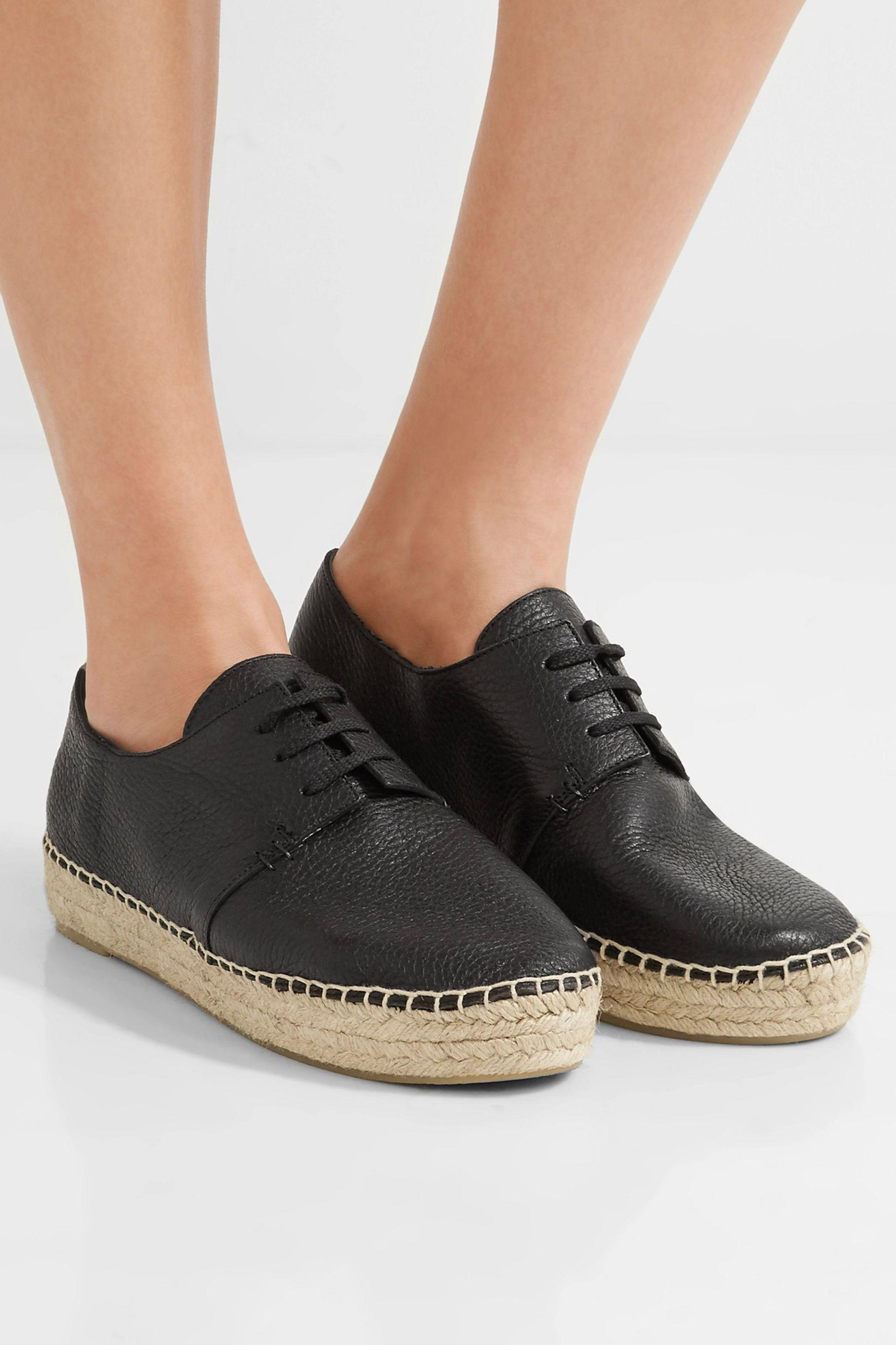 Vince Cynthia Leather Espadrille Sneakers Vo00UE7nv