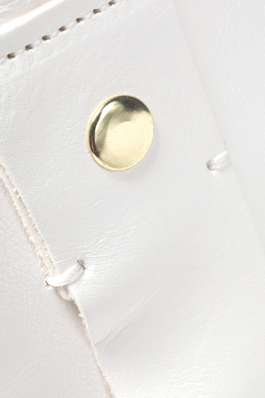 Clare V. Leather Tote Bag in White