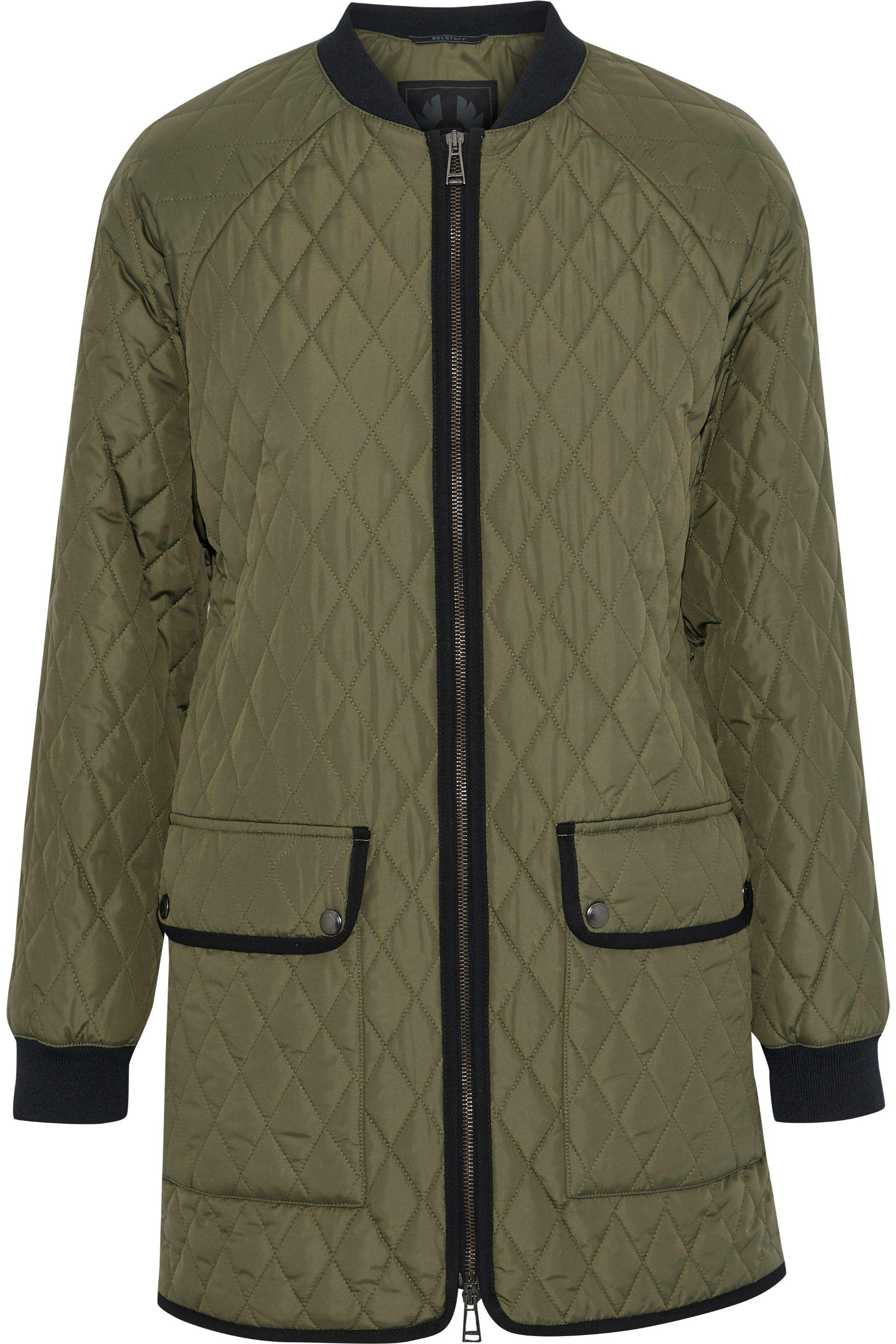 585c79614 Lyst - Belstaff Woman Rackham Quilted Shell Jacket Army Green in Green
