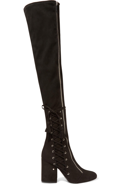 Excellent Dérivatif Jeu Footaction LAURENCE DACADE Round toe suede knee boots Sortie 100% Authentique PLU2Dz