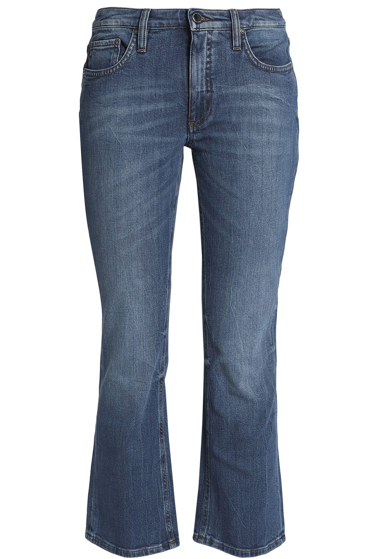 Victoria, Femme Victoria Beckham Recadrée Jeans Bootcut Appliques Lumière Denim Taille 30 Beckham Victoria