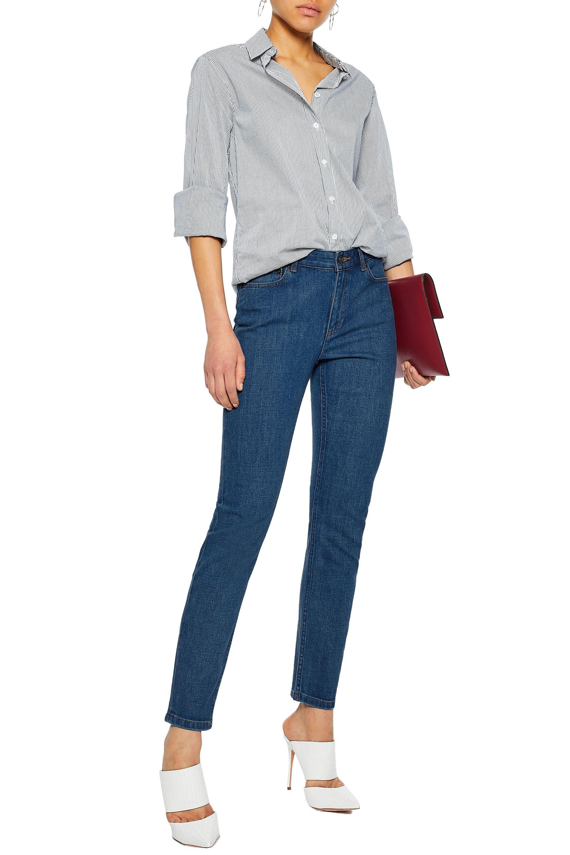 A.P.C. Denim Woman Mid-rise Skinny Jeans Indigo in Blue