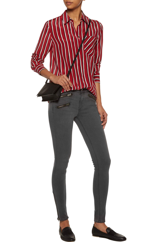 Rag & Bone Denim Mid-rise Skinny Jeans in Grey