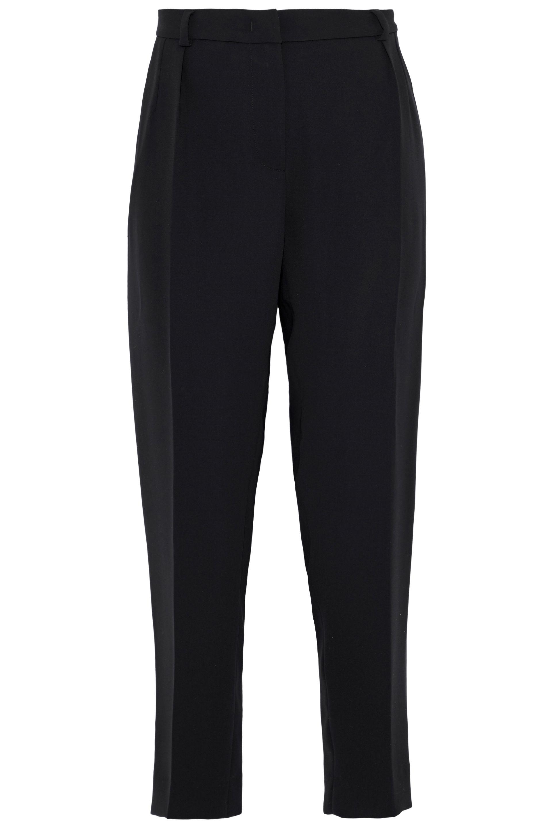 Gelly cropped trousers - Black Max Mara