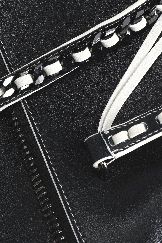 Elena Ghisellini Leather Tote Bag in Black