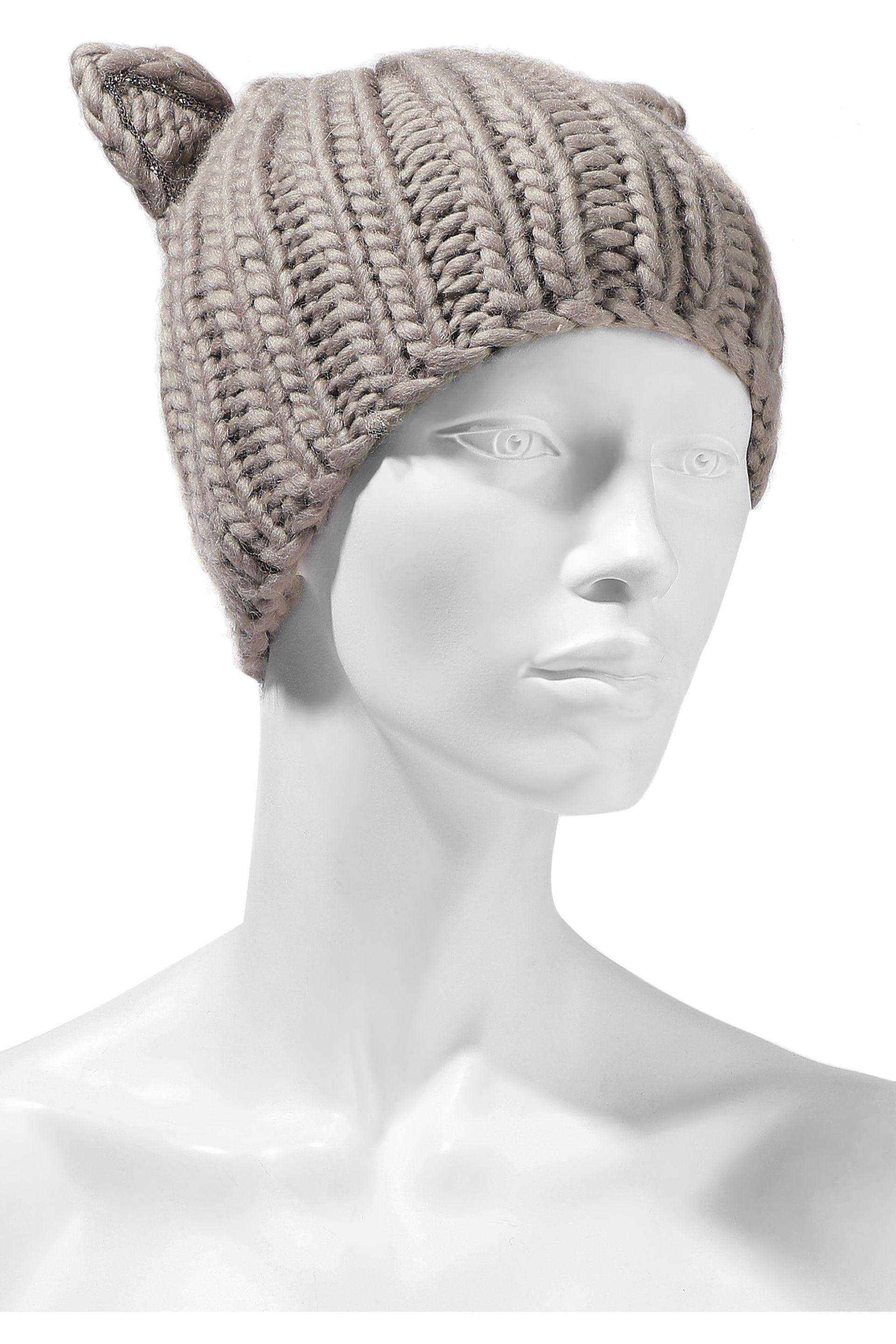Eugenia Kim - Gray Felix Crystal-trimmed Cable-knit Wool Beanie - Lyst.  View fullscreen 0833c506cf84