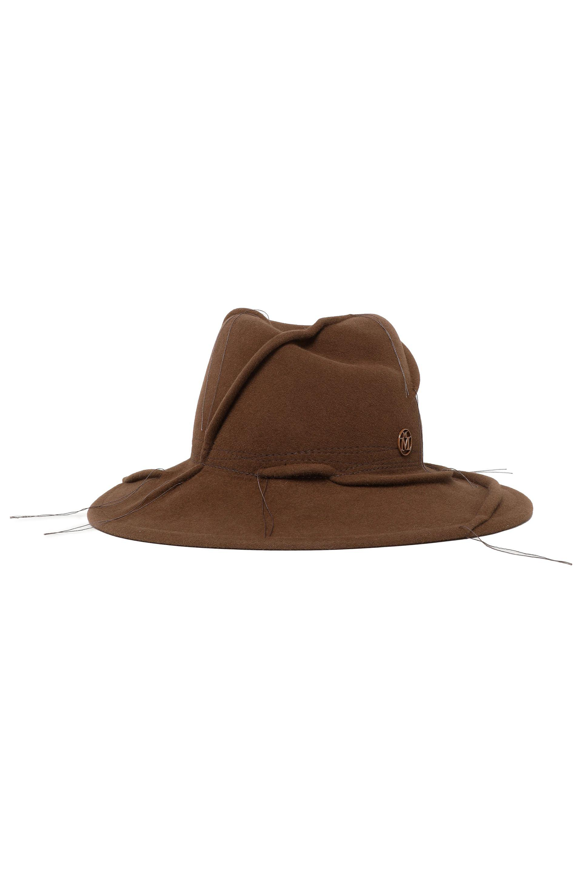 55883cf03a720 Maison Michel Felt Hat in Brown - Lyst