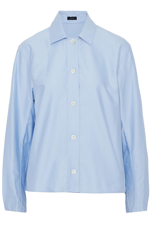 ab8386ba JOSEPH Cotton-poplin Shirt Sky Blue in Blue - Lyst