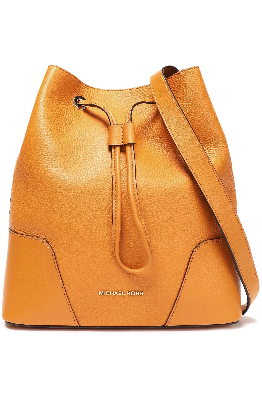 92fadbdacb6f MICHAEL Michael Kors. Women's Orange Woman Pebbled--leather Bucket Bag  Marigold