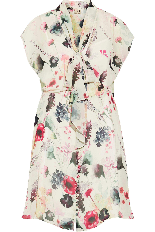 Haute Hippie Woman Printed Silk Crepe De Chine Maxi Shirt Dress Ecru Size 4 Haute Hippie jt31FKYuwa