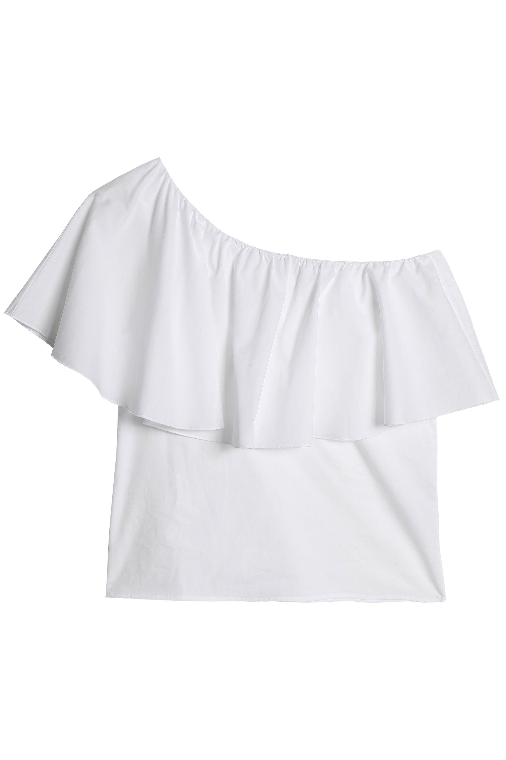 Iris & Ink Woman Callin Pleated Voile-trimmed Cotton-blend Poplin Top White Size 10 IRIS & INK Buy Cheap Low Shipping Fee Outlet Looking For Clearance Pay With Visa X4ZAQ