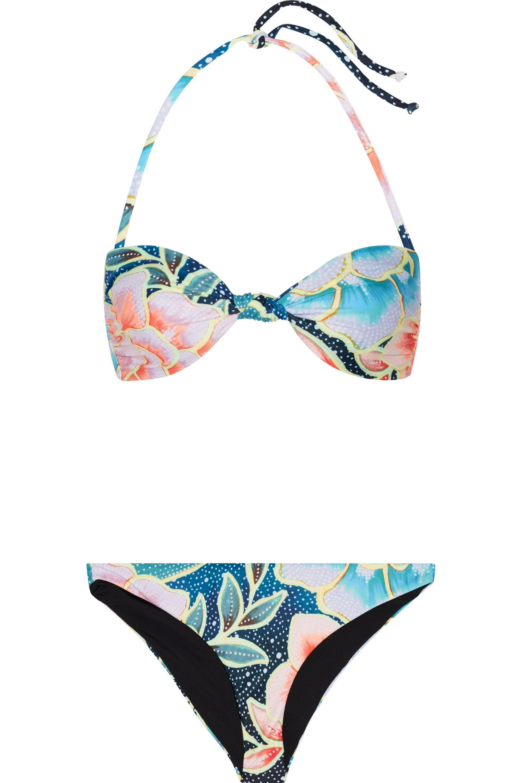 5a4901b69 Mara Hoffman Arcadia Printed Bandeau Bikini in Blue - Lyst
