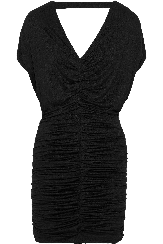 Bailey 44 Woman Impact Zone Ruched Stretch-jersey Mini Dress Light Gray Size L Bailey 44 y5k5Yfcu