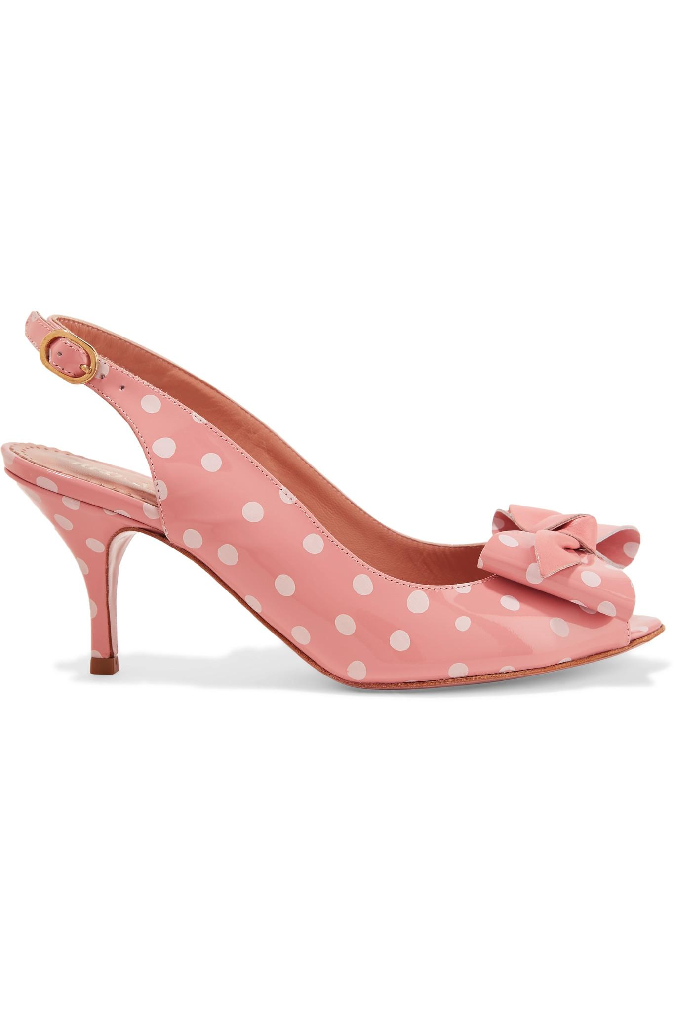 Red Valentino polka dot slingback sandals for sale top quality mjmiKfeg