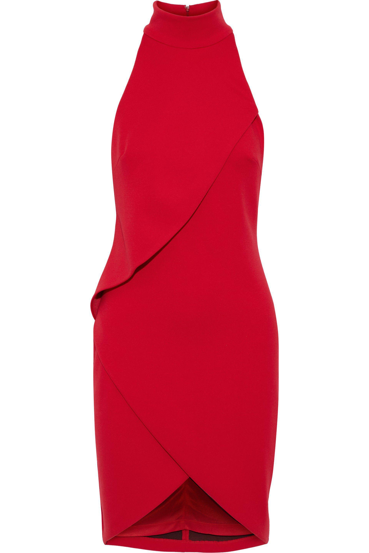 Bailey 44 Woman Orei Wrap-effect Ponte Dress Black Size L Bailey 44 yByTWr