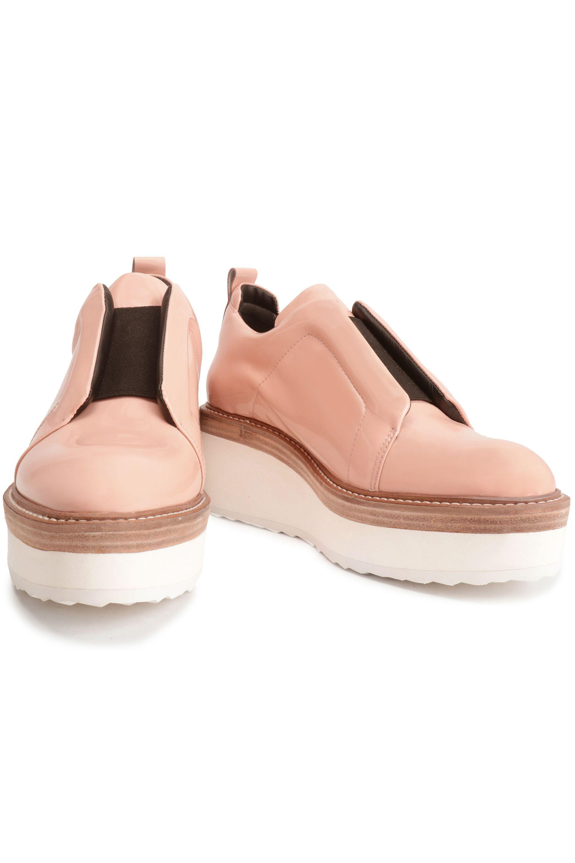 Pierre Hardy Patent Leather Platform Sneakers in Pink