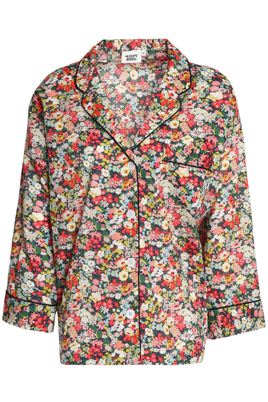2018 New Clearance 2018 Unisex Sleepy Jones Woman Floral-print Cotton-poplin Pajama Top Multicolor Size XL Sleepy Jones Outlet Footaction Wholesale Online Buy Cheap 100% Authentic kUl9dTgVS