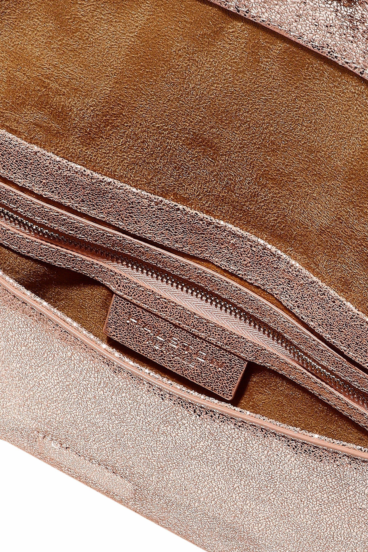 92fdb30986 Halston Heritage - Multicolor Metallic Cracked-leather Shoulder Bag - Lyst. View  fullscreen