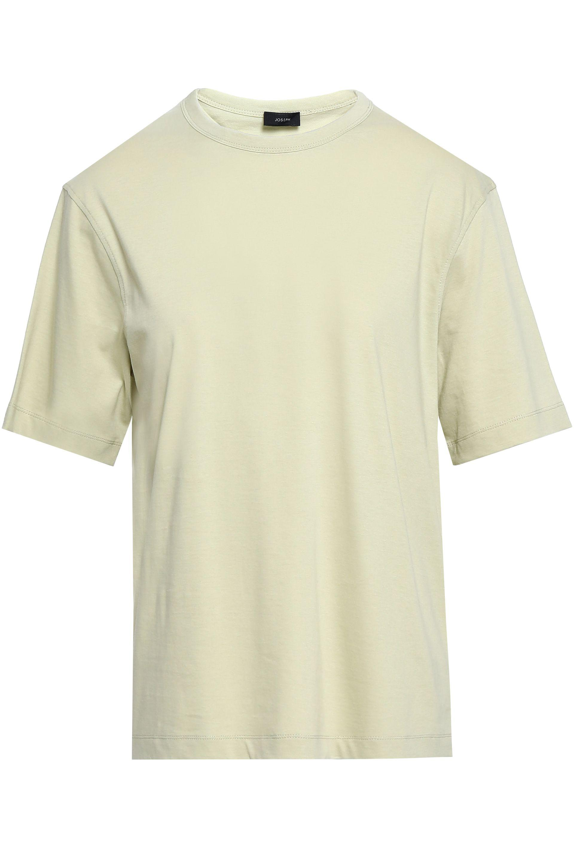 6fe1f33b Lyst - JOSEPH Woman Cotton-jersey T-shirt Sage Green in Green