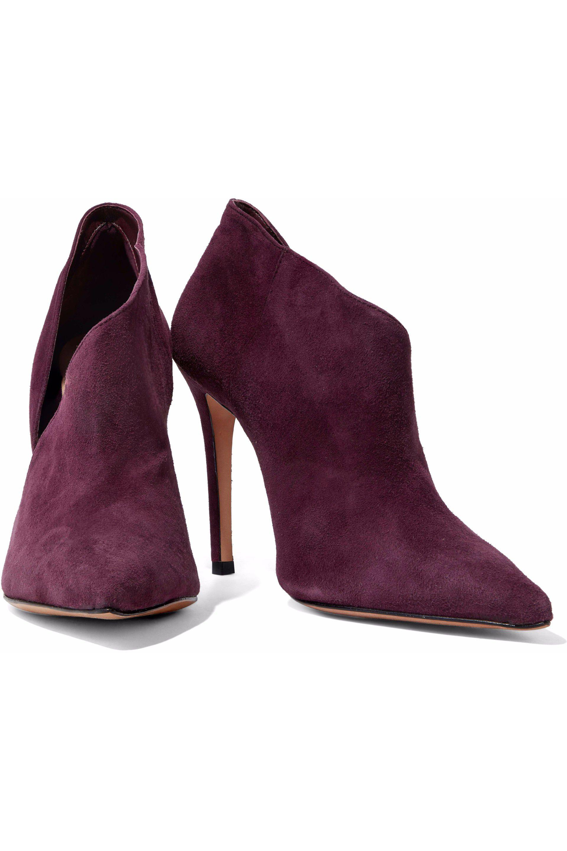 Schutz Suede Ankle Boots in Deep Purple (Purple)