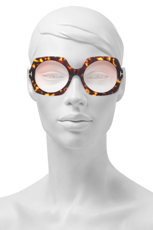 e04a089c46b0f Tom Ford Square-frame Tortoiseshell Acetate And Gold-tone Sunglasses ...