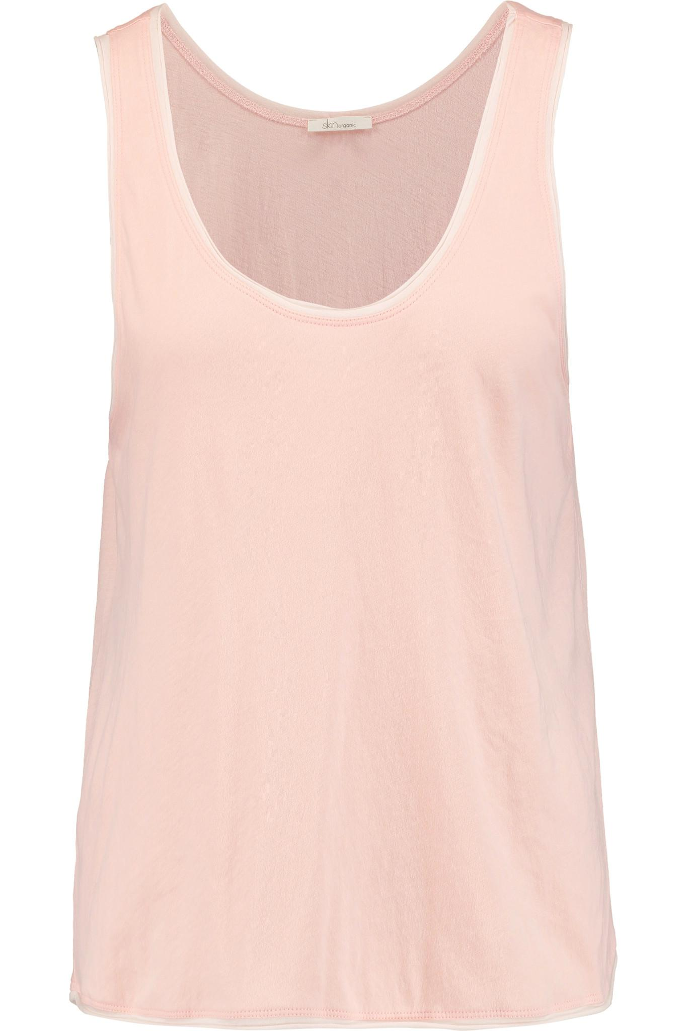 Sale Genuine Skin Woman Pima Cotton-jersey Top Pastel Pink Size S Skin Outlet Perfect Pre Order Cheap Online Buy Cheap Original Tuy505kGb