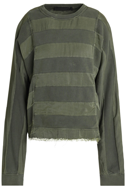 a764e70f59 haider-ackermann-Army-green-Paneled-Twill-And-Cotton-jersey-Sweatshirt-Army-Green.jpeg