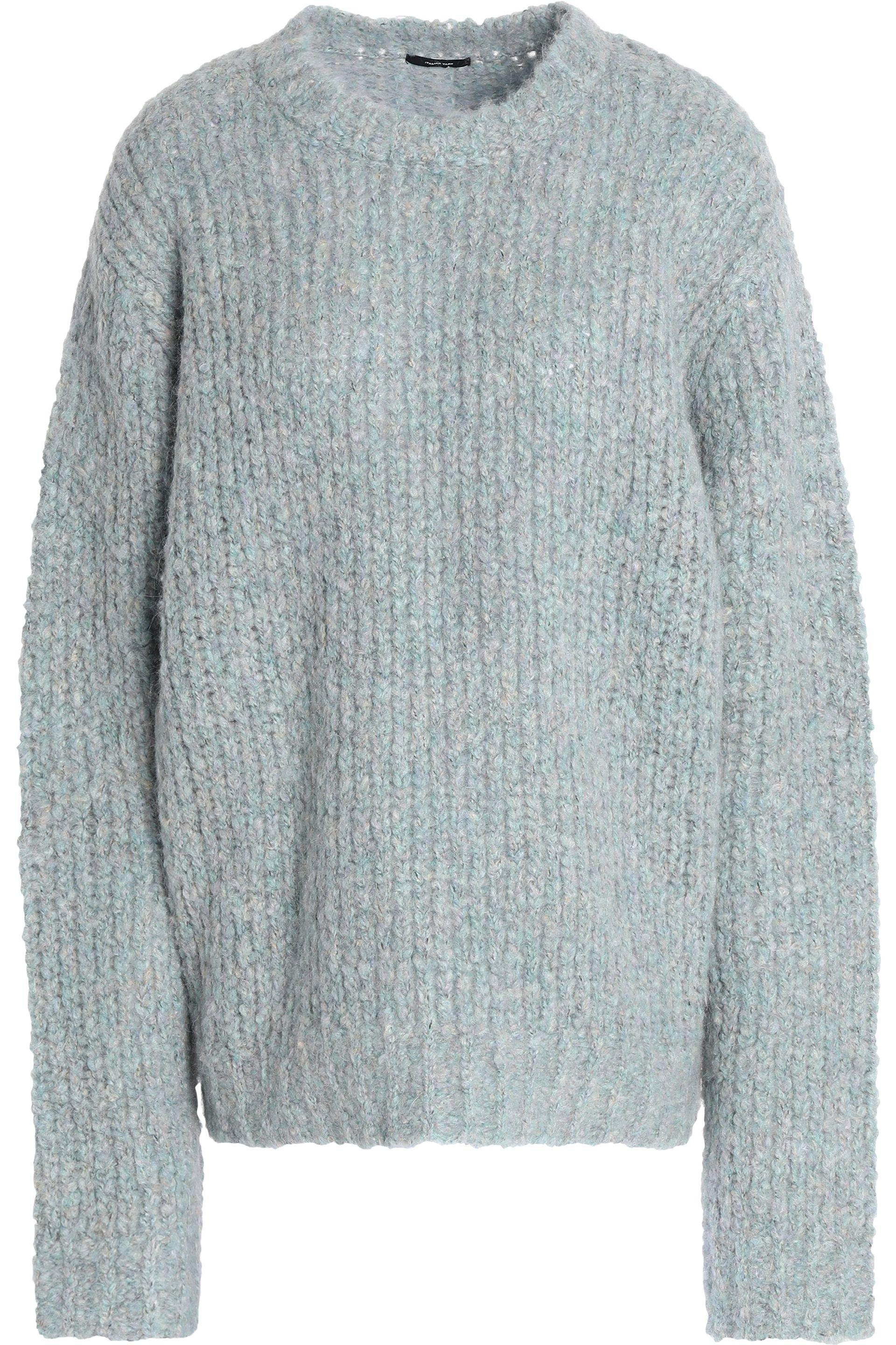 3d26226335 R13 Brushed Ribbed-knit Wool-blend Sweater in Gray - Lyst