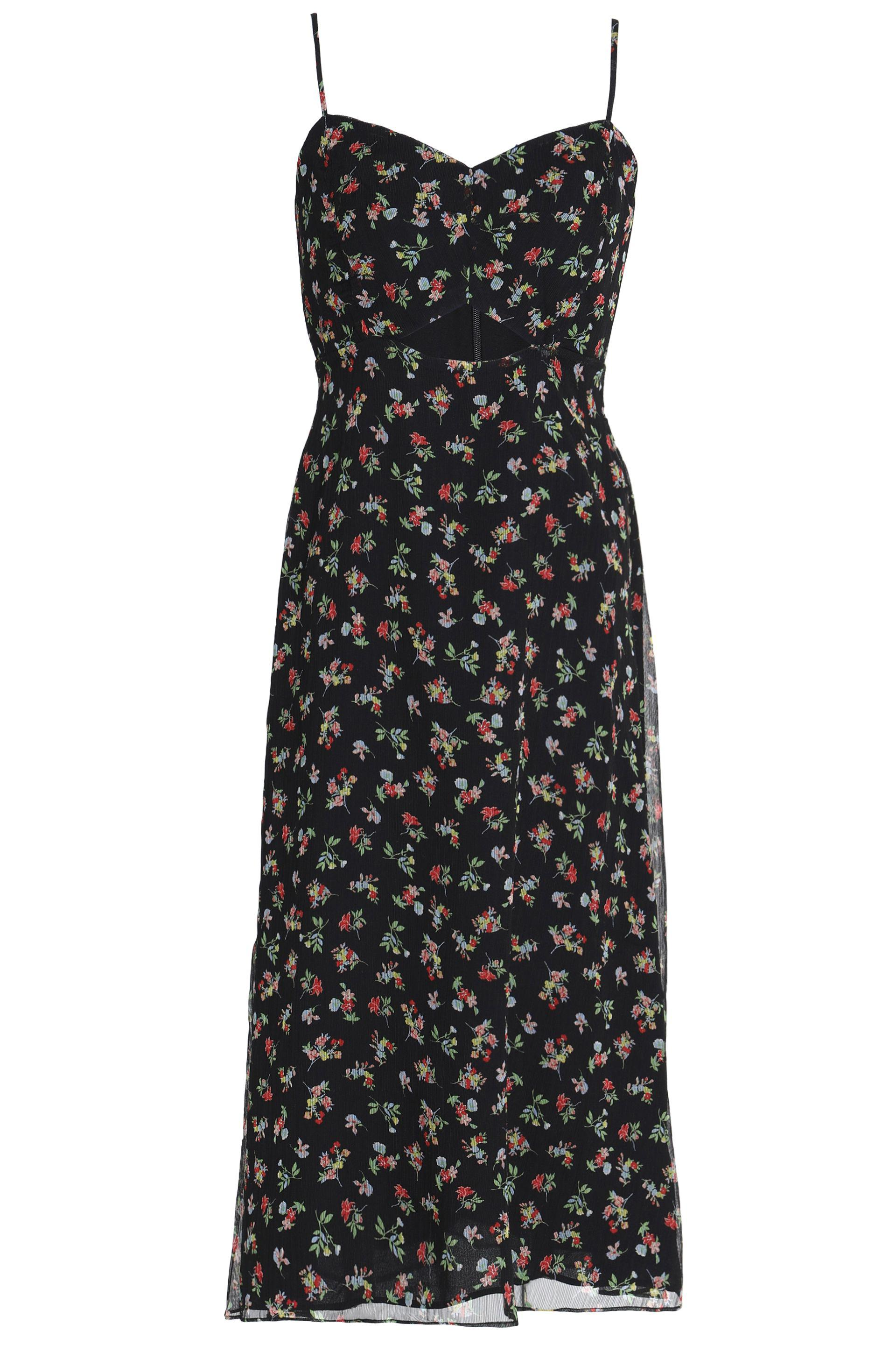 Bailey 44 Woman Cutout Floral-print Chiffon Midi Dress Black Size 4 Bailey 44 Buy Cheap Choice Buy Cheap Release Dates Cheapest Price For Sale Free Shipping Best Store To Get Free Shipping Original WyztFaDzU