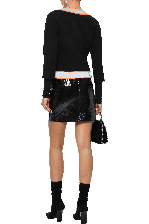 585a41b2527 Moschino - Woman Neon-trimmed Crepe Jacket Black - Lyst. View fullscreen