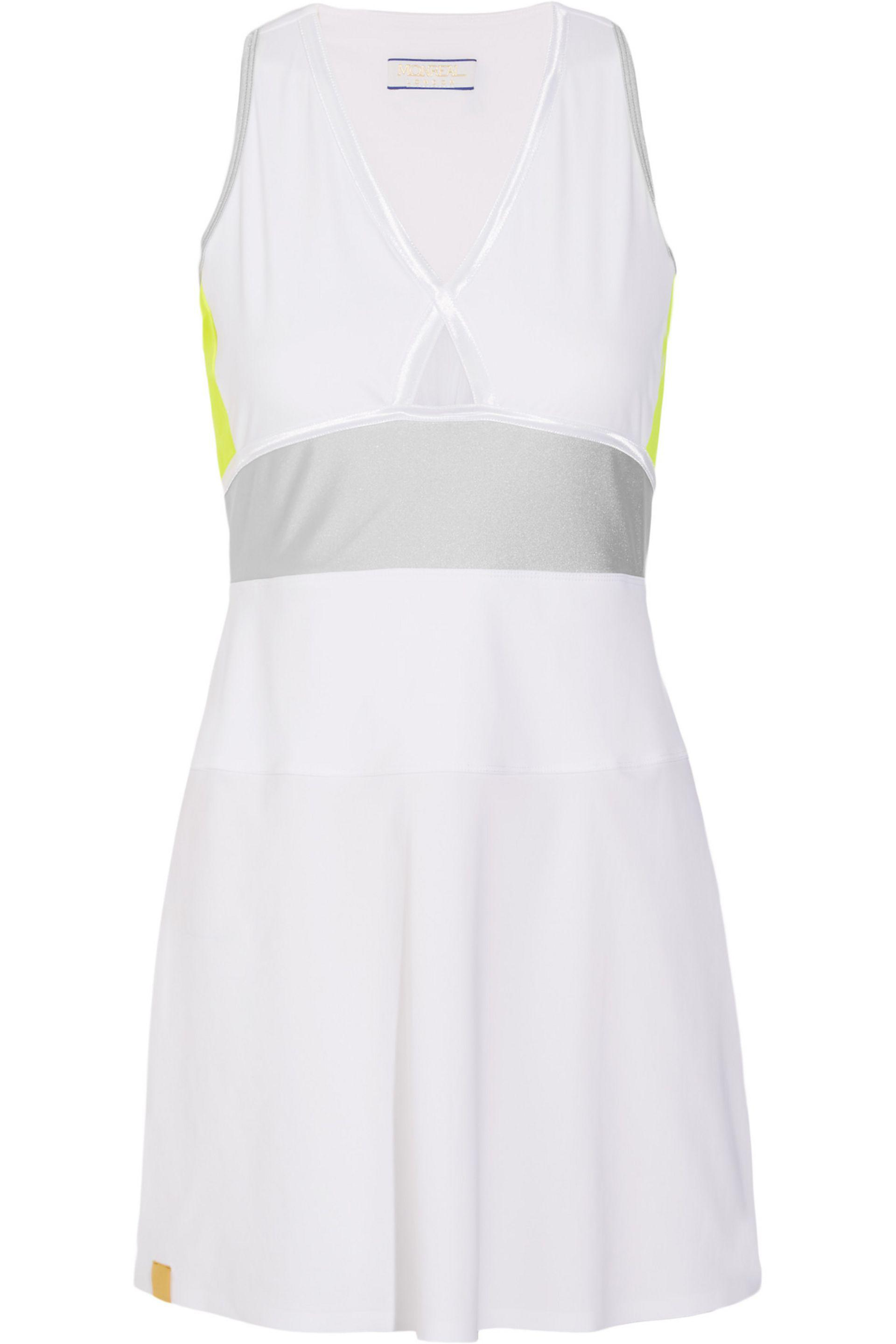 a1d07acc5b8a Monreal London Action Stretch-jersey Tennis Dress in White - Lyst