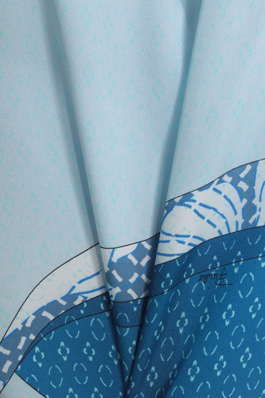 Emilio Pucci Printed Silk Mini Dress Blue