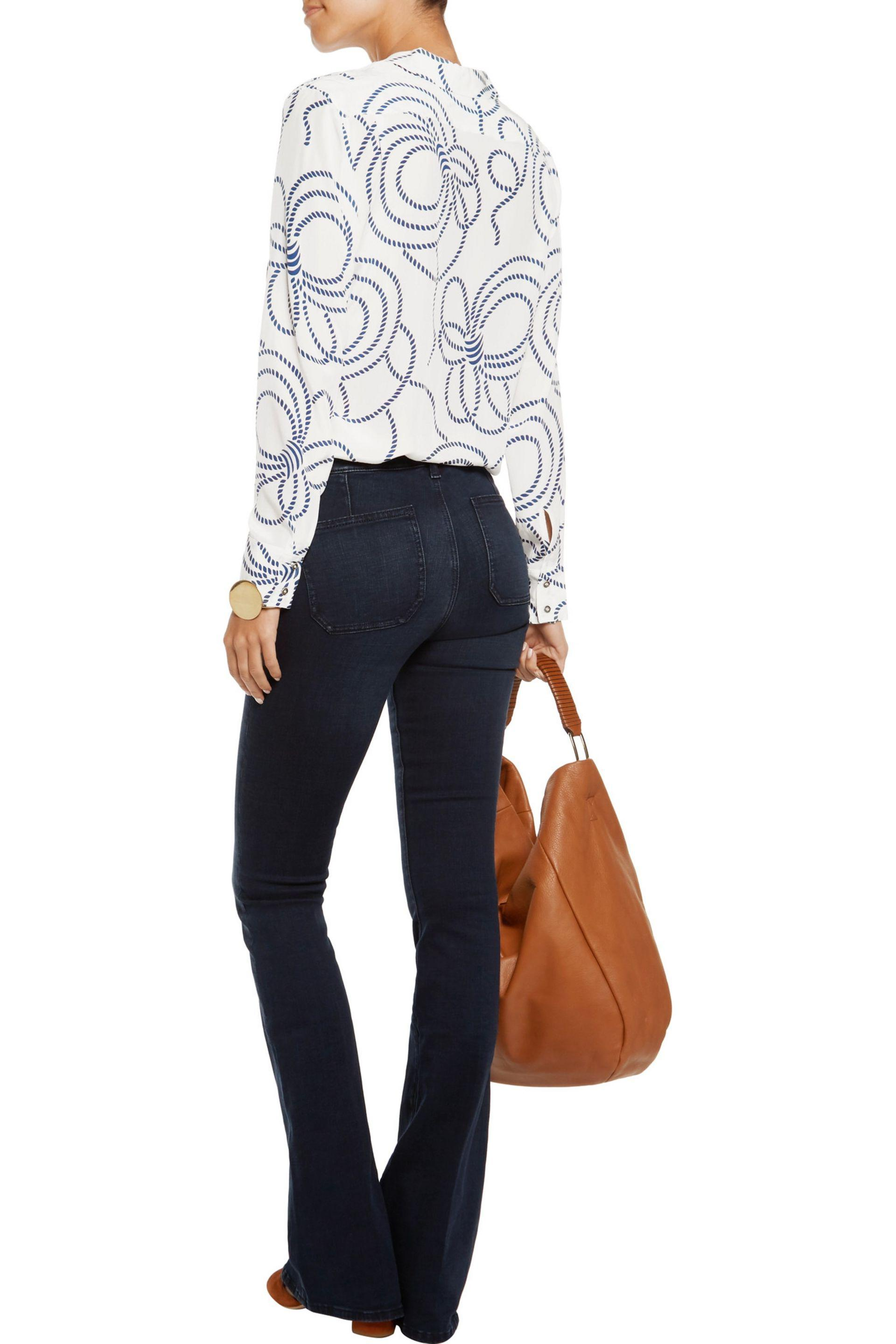 M.i.h Jeans Bodycon Marrakesh Mid-rise Flared Jeans Dark Denim Size 27 in Blue