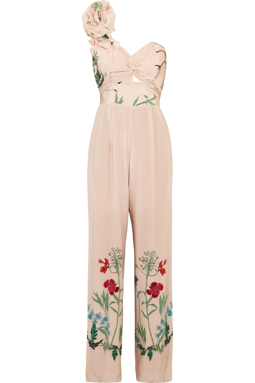 3761bdc4731 Johanna Ortiz Marmara One-shoulder Ruffled Printed Silk Jumpsuit in ...