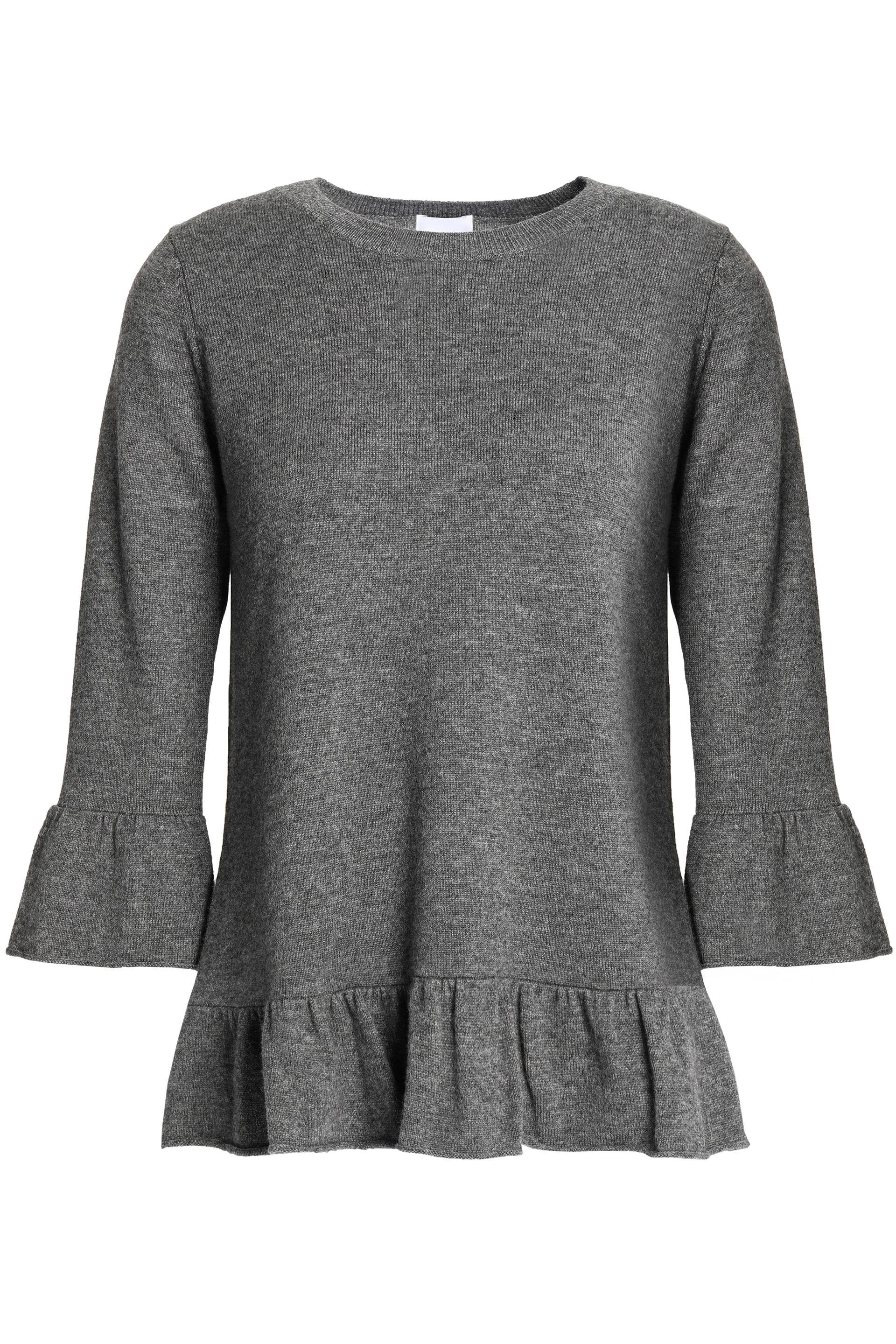 Madeleine Thompson Woman Mélange Wool And Cashmere-blend Peplum Top Gray Size M Madeleine Thompson Deals For Sale Footlocker Finishline For Sale Sale Great Deals Discount Shop Offer 039kdQfDw