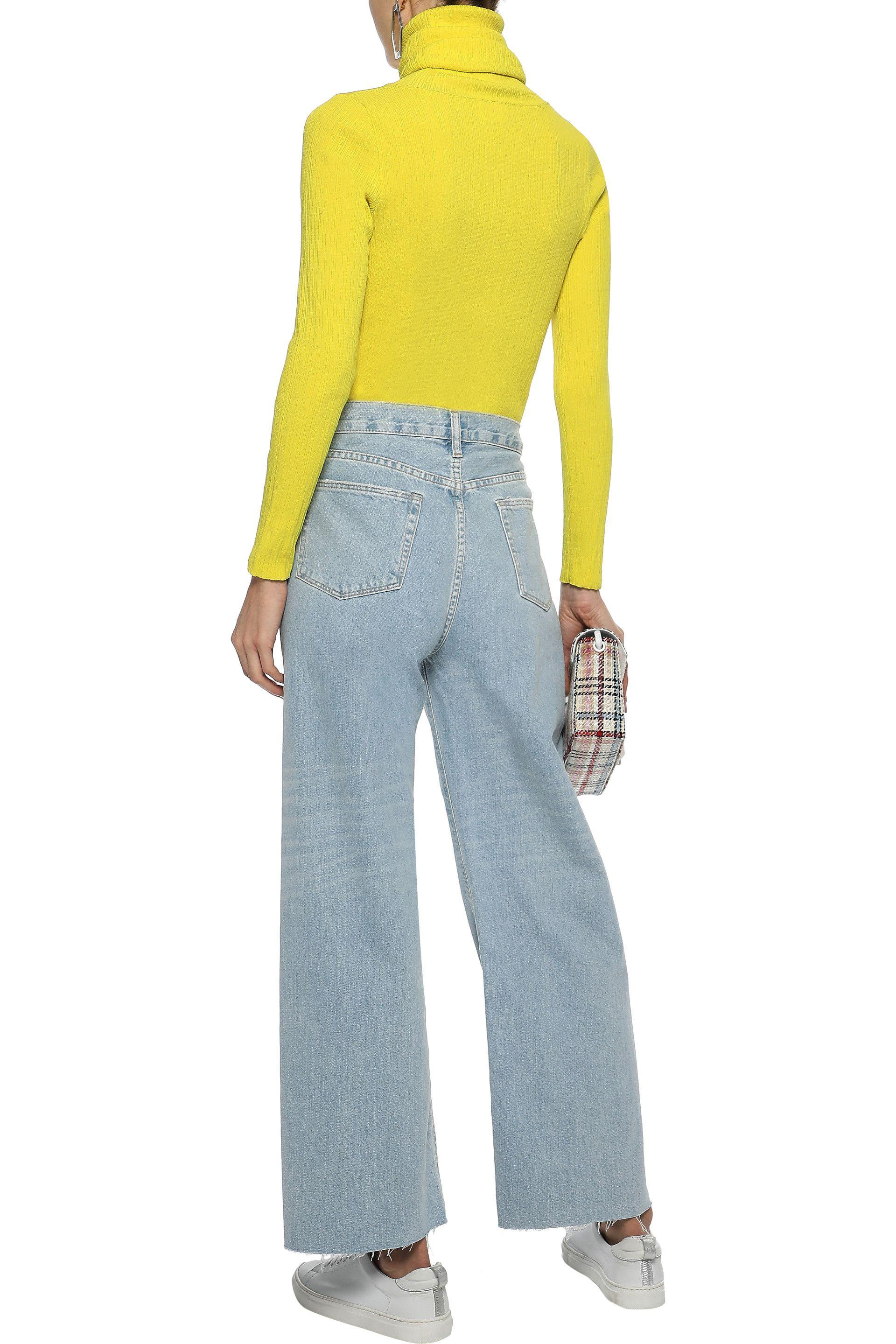 5d7b19e898af00 Simon Miller - Woman Ribbed-knit Turtleneck Sweater Bright Yellow - Lyst.  View fullscreen