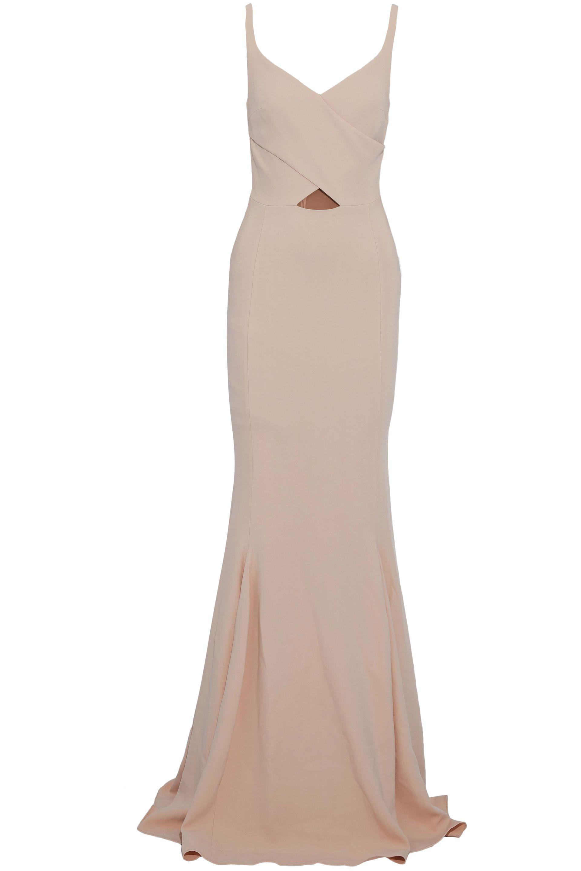 856c9554a4 Lyst - Stella McCartney Woman Fluted Wrap-effect Crepe Gown Antique Rose