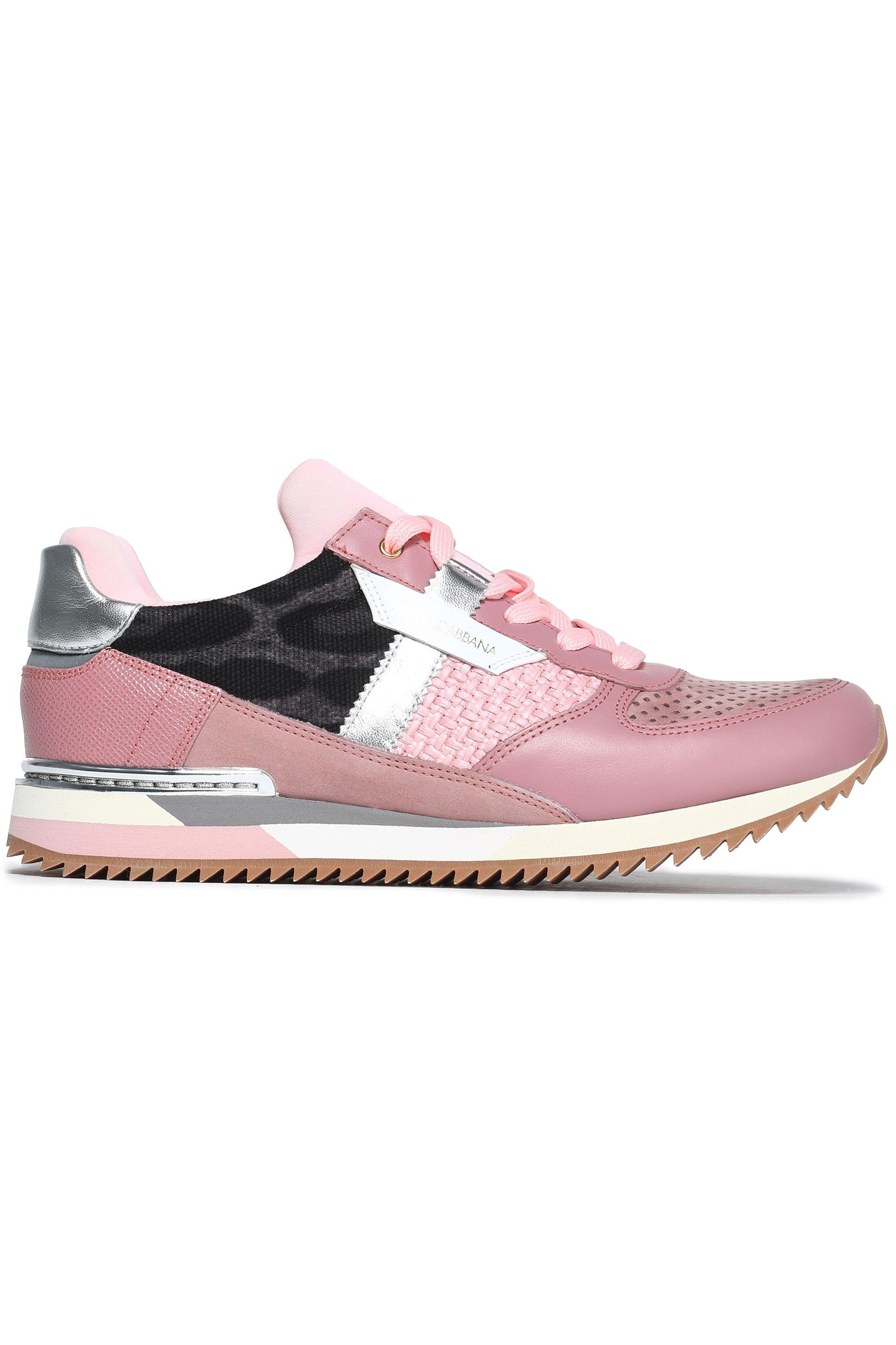 Dolce & Gabbana Woman Paneled Mesh Sneakers Antique Rose Size 36 Dolce & Gabbana Cheap Price Low Shipping Fee Pre Order Low Cost For Sale Buy Cheap For Sale Latest LprOHS0