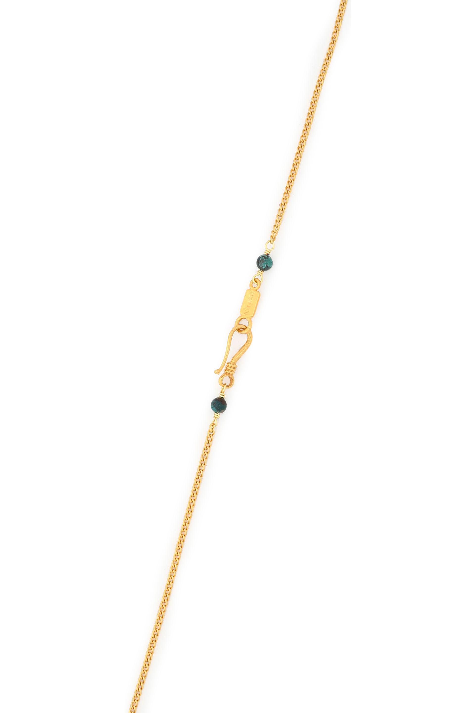 Chan Luu Gold-tone, Bead, Bone And Tassel Necklace in Metallic